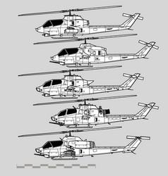 bell ah-1 cobra vector image