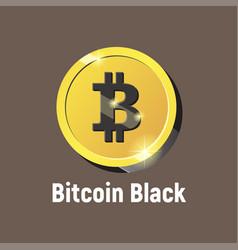 bitcoin black logo vector image