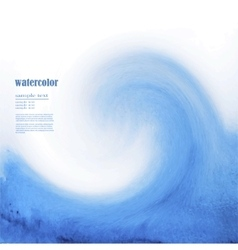 Blue watercolor background sea wave vector