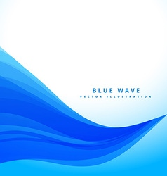 blue wavy flowing lines background design vector image