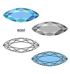 Boat gem cut vector