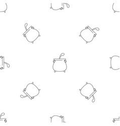 Boiled cauldron pattern seamless vector