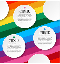 bright infographics of three steps white round vector image