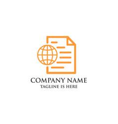 business document logo vector image
