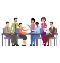 business people meeting managers are talking vector image