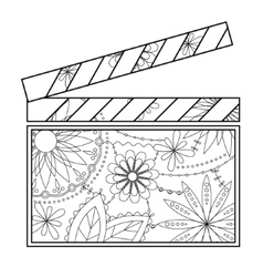 Clapperboard coloring vector