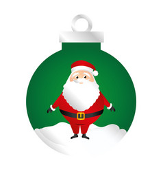 Color silhouette of garland with santa claus vector