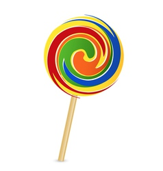 Colorful lollipop vector