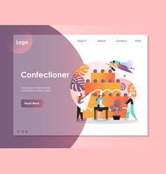 confectioner website landing page design vector image