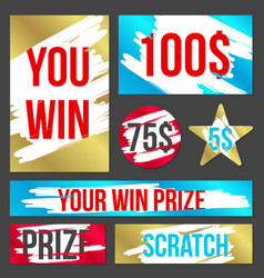 Creative of lottery scratch vector