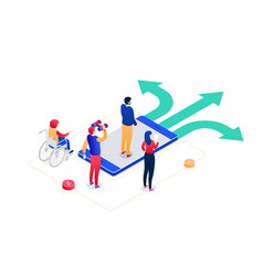 decision making - modern colorful isometric vector image