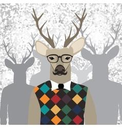 Deer hipster vector