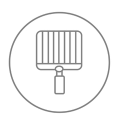 Empty barbecue grill grate line icon vector image