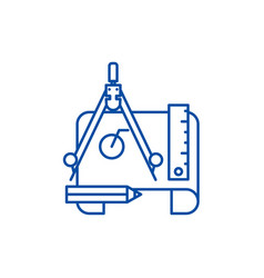 engineering project line icon concept engineering vector image