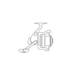 Fishing reel flat icon vector