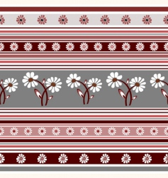 floral striped pattern vector image