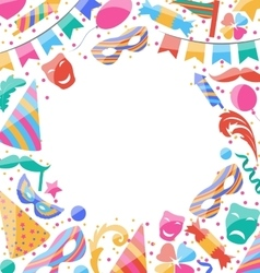 Frame Celebration background with carnival vector image