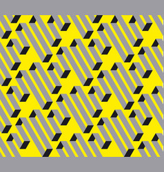geometric square stripe seamless pattern vector image