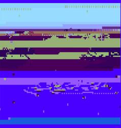 glitch computer screen error grunge wallpaper vector image