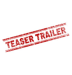Grunge textured teaser trailer stamp seal vector
