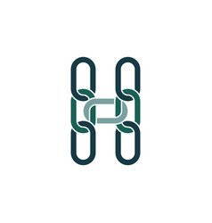 H logo letter link chain icon element vector