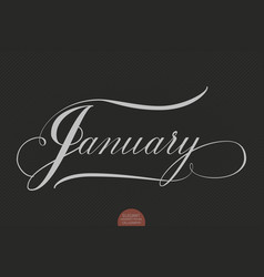 Hand drawn lettering january elegant vector