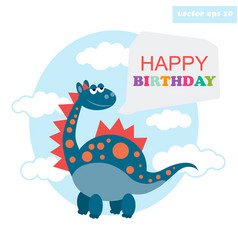 Happy birthday dragon vector