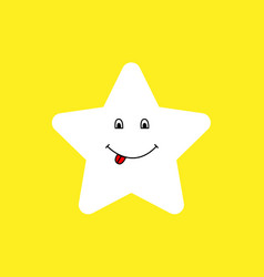 happy star vector image