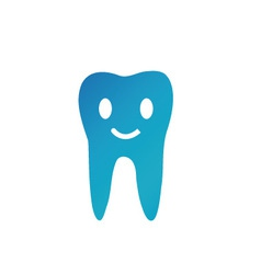 Happy tooth- logo for dentist vector