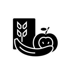 healthy food icon black sign vector image