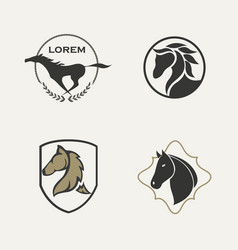 Horse logo set vector