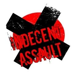 Indecent Assault rubber stamp vector