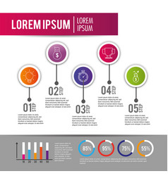 Infographic data information plan with lorem ipsum vector