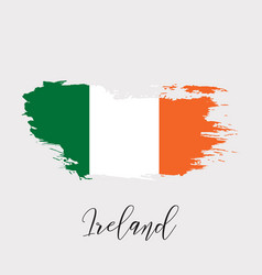 ireland watercolor national country flag icon vector image