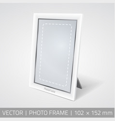 Isolated photo frame in perspective vector
