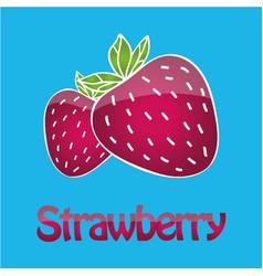 Juicy strawberry logo vector