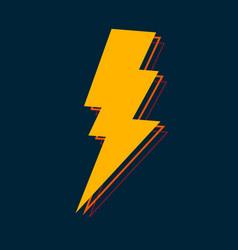 lightning glossy bolt icon vector image