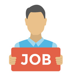 Looking for a job vector
