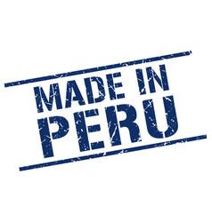 Made in peru stamp vector
