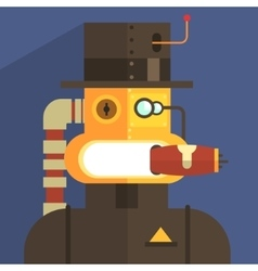 Magnate Robot Character vector