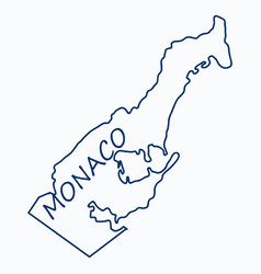 Map and flag of monaco with white background vector