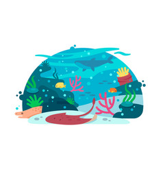 Marine underwater world vector