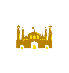 mosque icon isolated on white background vector image