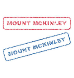 Mount mckinley textile stamps vector