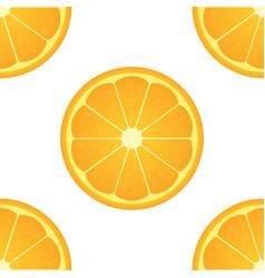 Orange citrus fruit healthy vegan food seamless vector