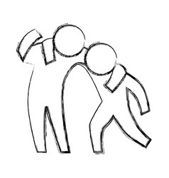 Person helping someone vector