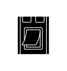 Pet doors black glyph icon vector