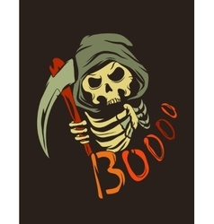 Poster with death character vector