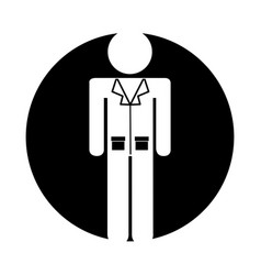 Professional doctor avatar silhouette vector