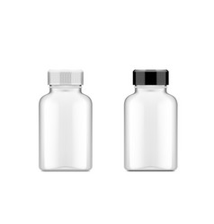 Realistic plastic bottle for medical or other use vector